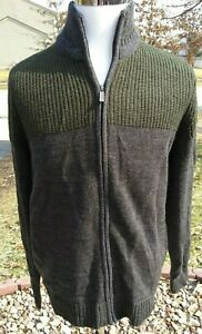 KENNETH-COLE-REACTION-Evergreen-Gray-Full-Zip-Sweater-NWT-80