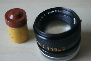 Canon FD Lens 1,4 / 50 mm S.S.C. SPARES OR REPAIRS
