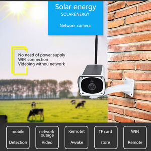 Solar Power Wireless Security System 1080POutdoor WiFi IP Cameras NightVision