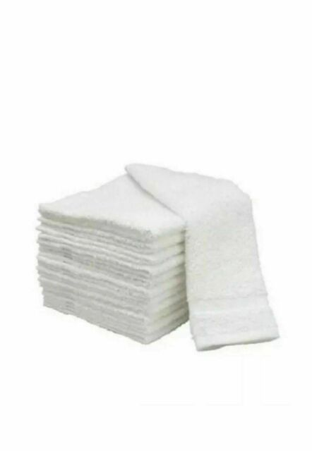 72 pack new white 12x12 100/% cotton hotel gym cleaning washcloths wash cloths