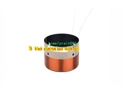 76mm 8ohm 8Ω BASV Bass speaker Voice Coils Black aluminum Subwoofer horn coil