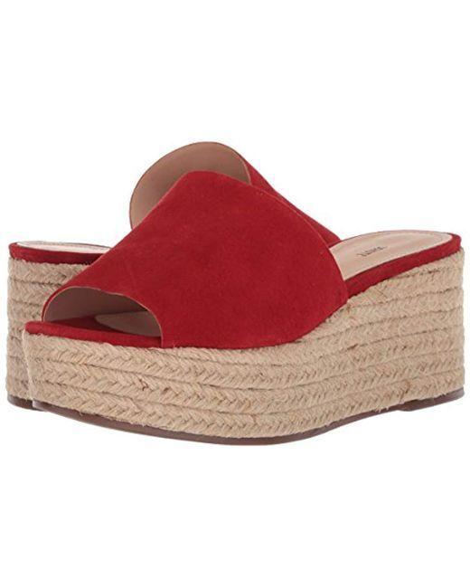 SCHUTZ Thalia Espadrille Wedge Sandal Tango rosso Platform Slide Mule Flatform