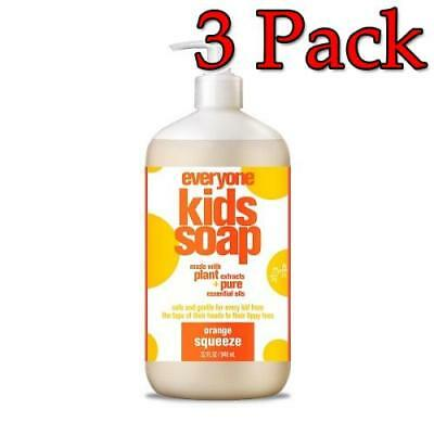 3 Pack 636874220024j699 Everyone Kids Liquid Soap 32oz Orange