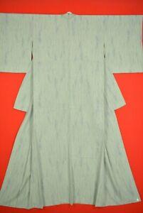 Vintage-Japanese-Silk-Antique-BORO-KIMONO-Kusakizome-Dyde-Textile-XL14-1075