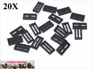 LEGO® 20 x Gitterfliesen 1x2 Flat Silver Tile Neu Modified 1 x 2 Grille