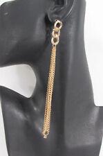 New Women Gold Metal Chains Dangle Fashion Earrings Set Long / Short 2 Options