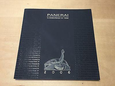 Broschüre Catalogue Katalog Panerai - Sammlung 2006 - Spanisch - Montre Uhren