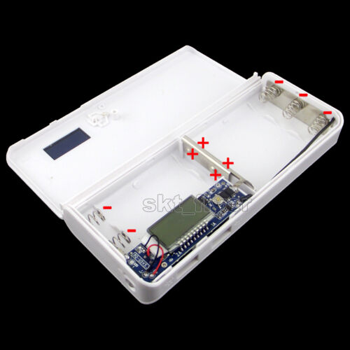 5V 2A USB Mobile Power Bank Charger Box For 18650 Battery iPhone LED GPS MP4