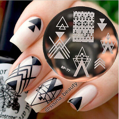 Negative Space Pattern Nail Art Stamp Template Image Plate BORN PRETTY BP77