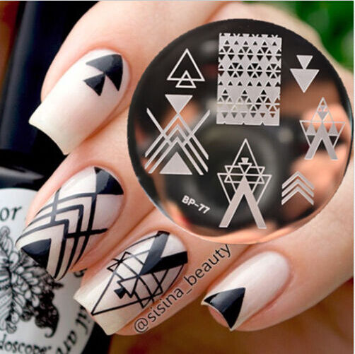 Negative Space Design Nail Art Stamping Template Image Plate BORN PRETTY BP77