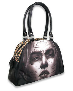 Liquor Brand Damen CARA Handtasche.Oldschool,Tattoo,Biker,Pin up,Custom Style
