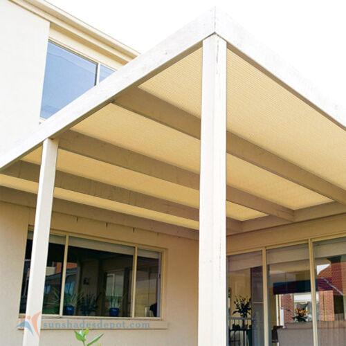Fabric Roll Fence Privacy Sun Wind Screen UV Block DIY Shade Cloth Cover BEIGE