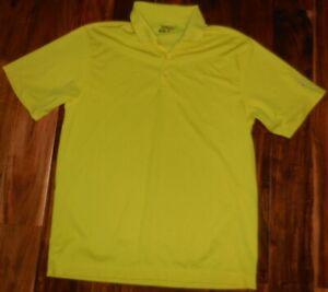 Nike-Golf-Tour-Performance-Men-039-s-UV-Stretch-SS-Yellow-Polo-358324-711-sz-L-NWOT