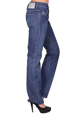 Diesel Damen Regular Straight Fit Jeans Hose | 100% Bio Baumwolle | W29 L34