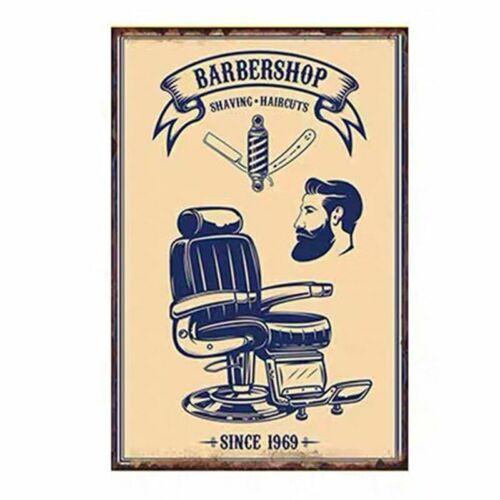 Plaque Metal Sign Tin Barber Shop Wall Poster Plate Haircut Beard Store Shop Pub