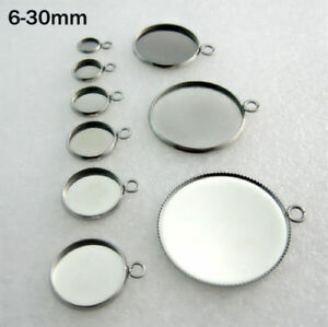 10pcs-Stainless-Steel-Pendants-DIY-Round-Cabochon-Blank-Bezel-Base-Tray-6-30mm