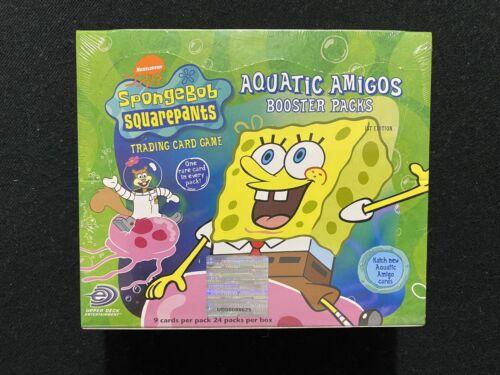 Factory Sealed SpongeBob Squarepants 1st Edition Aquatic Amigos Booster Box