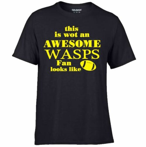 RUGBY Game Match Team Premiership  Union T Shirts Awesome WASPS Fan Supporter