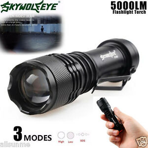 Super Bright 4000LM CREE Q5 AA//14500 3 Modes ZOOMABLE LED Flashlight Torch Lamp
