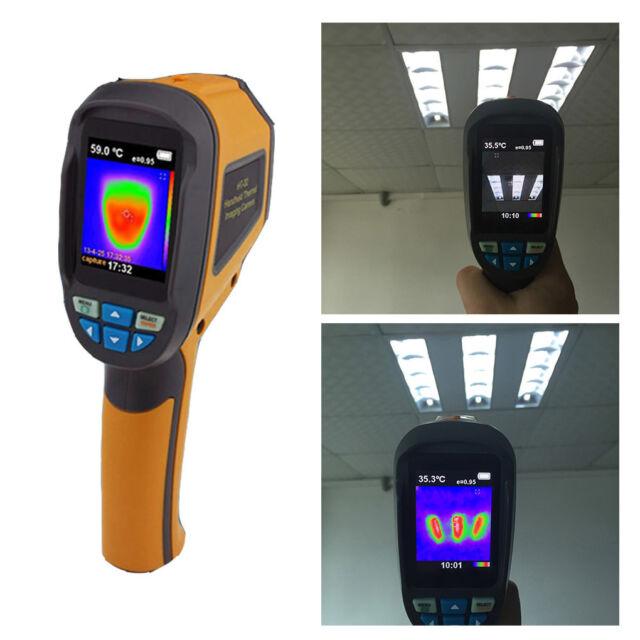 Infrared Thermal Imager Camera,HT-02D Handheld IR Thermal Imaging Camera Color Display 1024p 32x32 Resolution Thermal Imager