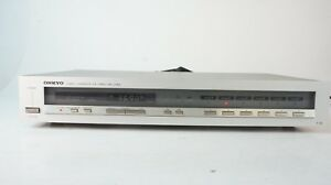 Onkyo-T-08-Tuner-oldschool-analoge-Anzeige-slimline-edel-top-Empfang