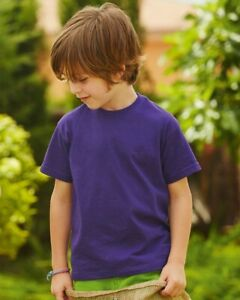 Fruit-Of-The-Loom-Childrens-Kids-Valueweight-Short-Sleeve-Casual-T-Shirt-61033