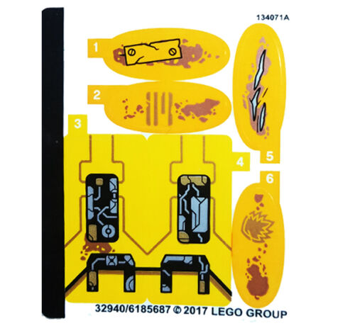 LEGO Super Heroes 76080 Guardians of The Galaxy Ayesha/'s Revenge STICKER SHEET