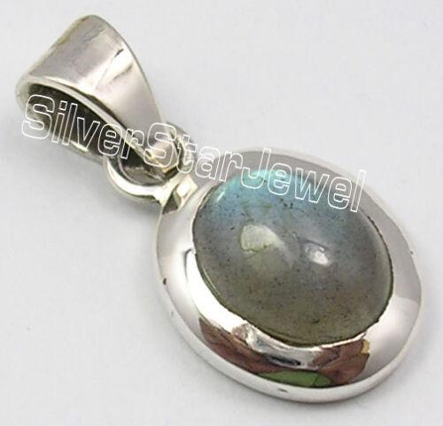925 TIMBRE Argent Véritable Labradorite gemset Fashion Pendentif en ligne de bijoux boutique