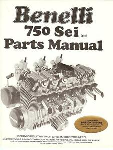 1977-Benelli-750-Sei-6-cylinder-illustrated-part-book