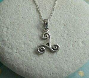 Collar-Colgante-de-plata-esterlina-celta-triskelion-Reino-Unido-Vendedor