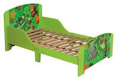 Toddlers Green Jungle Single Bed Frame with Slat Base Kids Bedroom Furniture