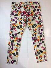Vanilla Star Flower Print 5 Pocket Jeans Size 13 ~