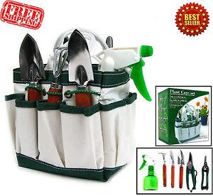 Garden plant tool set gardening tools organizer tote kit for Gardening tools kit set india