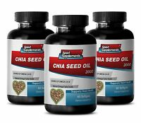 Appetite Suppressant - Chia Seed Oil 2000mg - Supports Immune System 3b