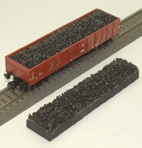 """045 h0 cargo for Fleischmann 5282 High Board Wagon /""""Coal/"""" OVP"""