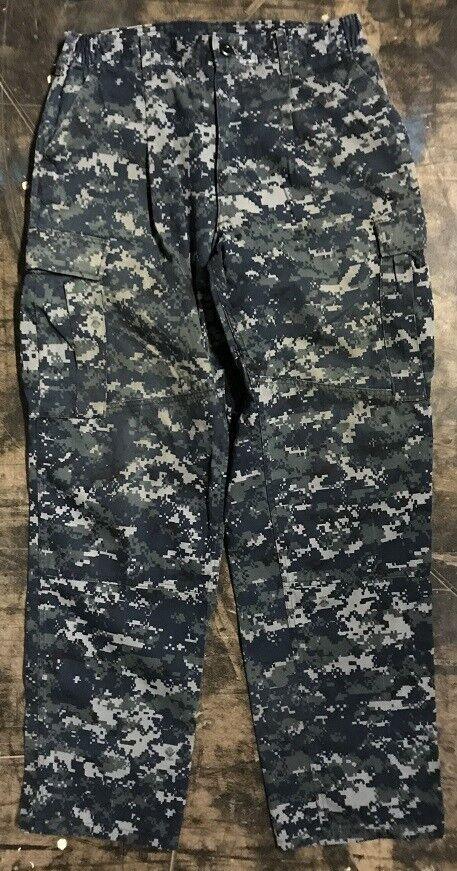 US NAVY USN Army Trousers Digital Pattern Trousers Army Working Hose ML Medium Long ea108d