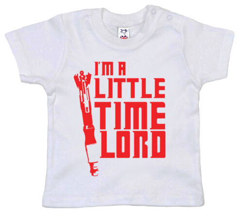 """Doctor Who T-Shirt /""""I/'m a Little Time Lord/"""" Baby Timelord Sonic Screwdriver"""