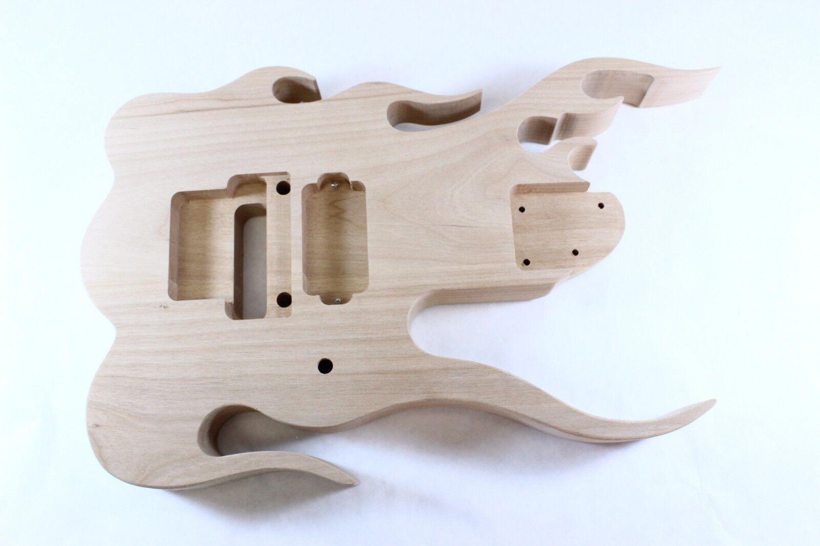 Inacabado aliso Jem Guitarra Cuerpo-Flame-se adapta a RG RG RG cuellos, ofr Floyd rosado e046f2