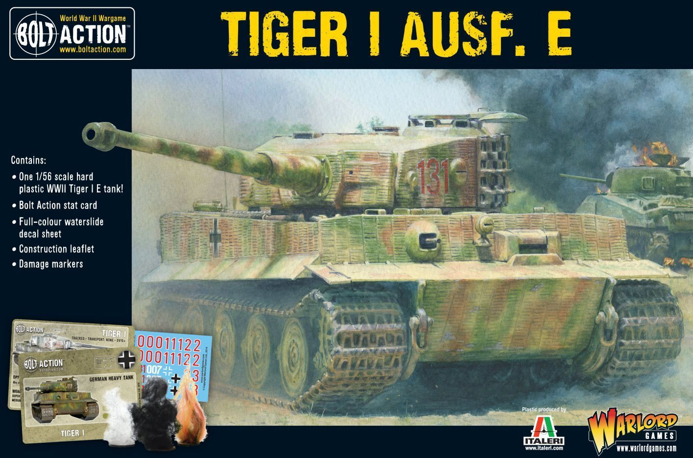 Warlord Games - Tiger I Ausf. E 1 3 32in - German WWII Panzer Tank 3 15 32in