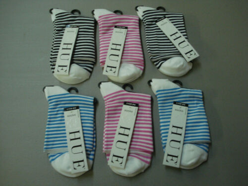 NWT Women/'s Hue Fine Pixie Socks One Size 6 Pair Multi #663E