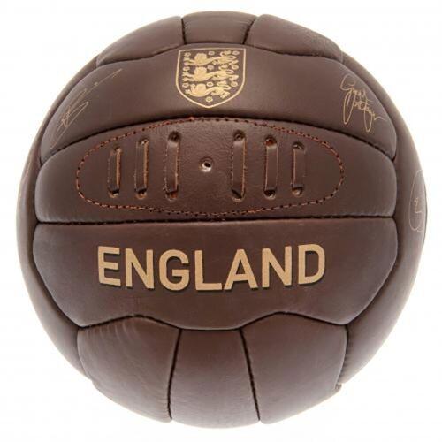 England F.a Rétro Heritage Cuir Football