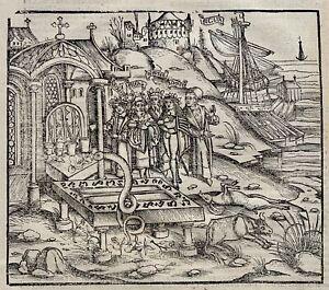 1502 Grüninger INCUNABULA WOODCUT Virgil Aeneid: Aeneas Declares Funeral Games