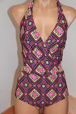 NWT Betsey Johnson Swimsuit 0ne 1 piece Sz M Multi Monokini