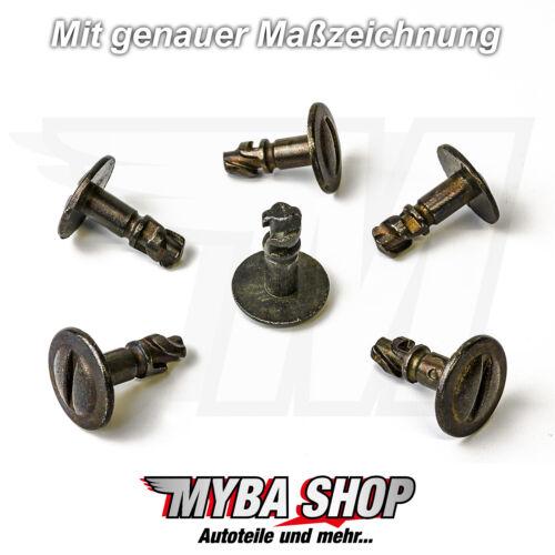 MOTORE 10x- Protezione Sottoscocca clip in metallo per AUDI VW PASSAT SKODA8d0805121b