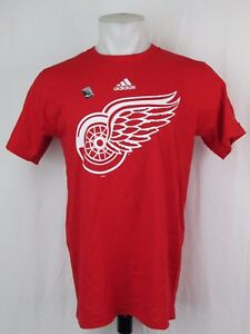 Detroit Red Wings Adidas Primary Logo T Shirt Red Men S Nhl A14 Ebay