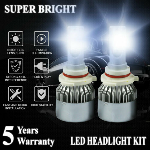 9005 HB3 H10 2000W 300000LM LED Headlight Bulbs Kit Hi//Lo Beam 6000K  Fog Lamp