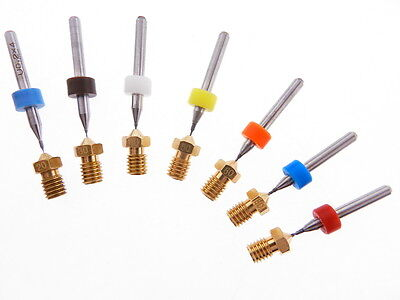 8pc .4mm .5mm .6mm .8mm 1.0mm J-head 3D Printer Extruder Nozzle Clog KIT