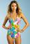 Trina Turk Swim Kaleidoscope Floral Halter One Piece Swimsuit