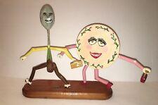 "Folk Art Sculpture Nursery Rhyme ""Hey Diddle Diddle"" Handmade, Signed by Artist"