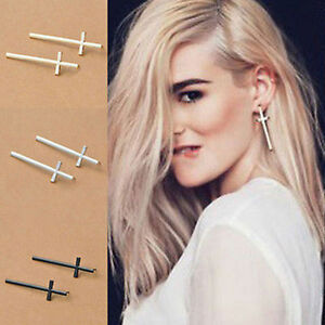 Fashion-Jewelry-Women-Vintage-Ear-Stud-Girl-Lady-Stylish-Cross-Earrings-New